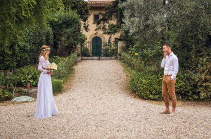 Bohemian Style Italian Wedding – First Look