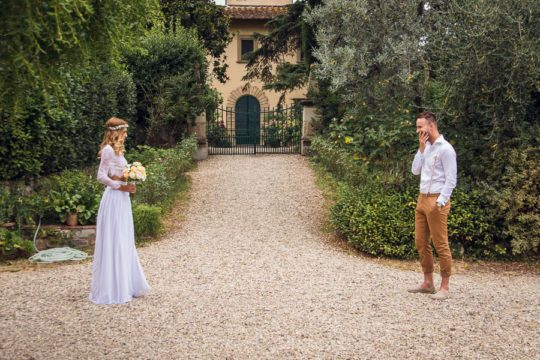 Bohemian Style Italian Wedding – First Look