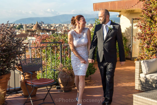 Cool Rooftop Wedding at Florence