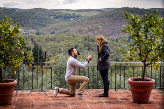 Surprise Proposal in Chianti