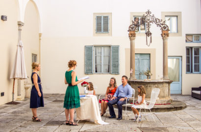Wedding Vow Renewal in a Tuscan Villa