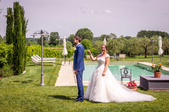 Casual Italian Wedding First Look