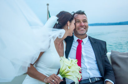 Motor Boat Photo Session at Lake Garda