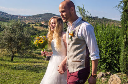 Natural Wildflower Tuscan Garden Wedding