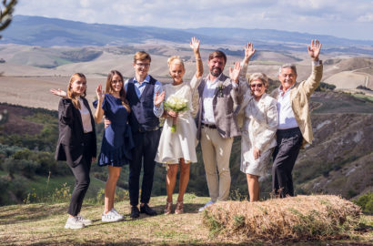 Charming Country Wedding Ceremony and Reception in Volterra