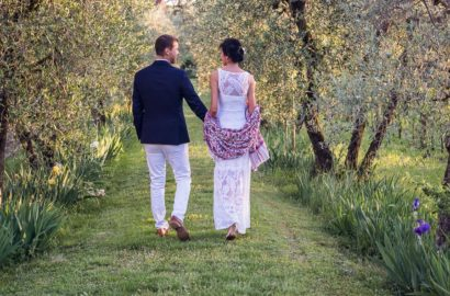 Surprise Floral Symbolic Wedding in Tuscan Garden