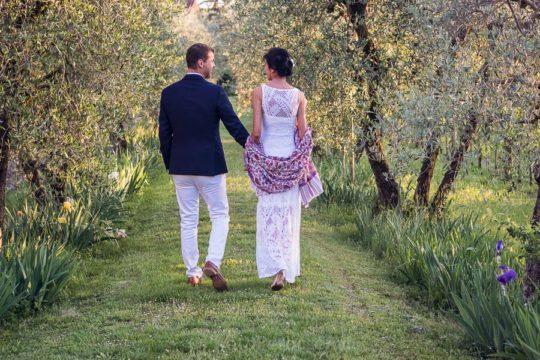 Surprise Floral Symbolic Wedding in Tuscan Garden