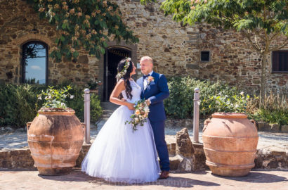 Summer Destination Wedding in Tuscan Farmhouse
