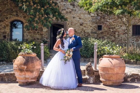 Summer Destination Wedding in Tuscan Farmhouse