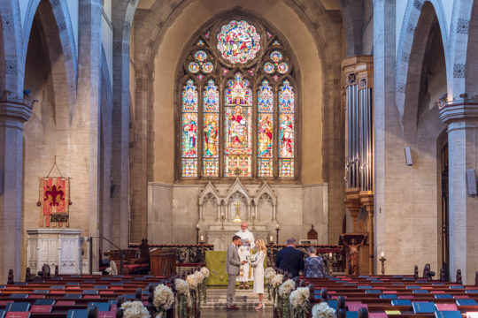 Protestant Wedding Ceremony in St James Church Florence
